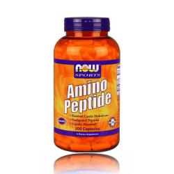 НАУ ФУДС АМИНО ПЕПТИД / NOW FOODS AMINO PEPTIDE 400 мг. 300 капс.