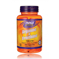 НАУ ФУДС АРГИНИН И ОРНИТИН / NOW FOODS ARGININE & ORNITHINE 500/250 100 капс.