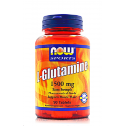 NOW FOODS L-GLUTAMINE 1500 мг. 90 табл.
