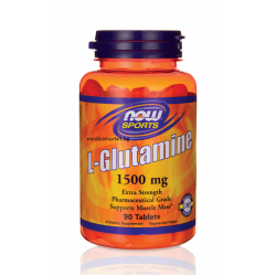 НАУ ФУДС Л-ГЛУТАМИН / NOW FOODS L-GLUTAMINE 1500 мг. 90 табл.