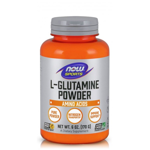 NOW FOODS L-GLUTAMINE POWDER 170 гр.