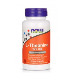 NOW FOODS L-THEANINE 100 мг. 90 капс.