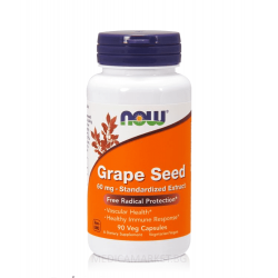 NOW FOODS GRAPE SEED 60 мг. 90 капс.