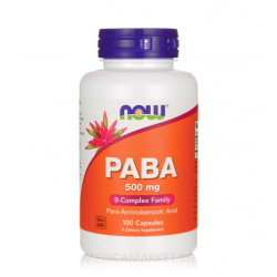 NOW FOODS PABA 500 мг. 100 капс.