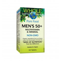 НЕЙЧЪРЪЛ ФАКТОРС МУЛТИВИТАМИНИ И МИНЕРАЛИ ЗА мъже 50+/ NATURAL FACTORS MEN'S 50+ MULTIVITAMIN & MINERAL 60 табл.