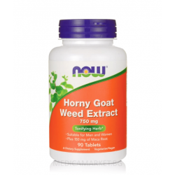 NOW FOODS HORNY GOAT WEED EXTRACT (ЕПИМЕДИУМ) 750 мг.