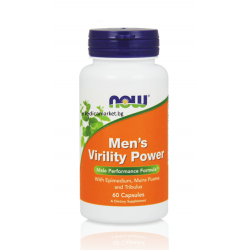 НАУ ФУДС СТИМУЛАТОР НА ЛИБИДОТО / NOW FOODS MENS VIRILITY POWER 60 капс.