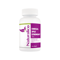 NATURALICO OMEGA 3PLE STRENGTH 60 капс.