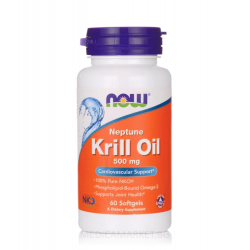 NOW FOODS NEPTUNE KRILL OIL 500 мг. 60 драж.