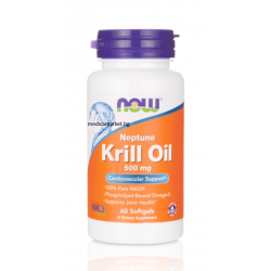 НАУ ФУДС НЕПТУН КРИЛ ОЙЛ / NOW FOODS NEPTUNE KRILL OIL 500 мг. 60 драж.