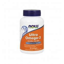 НАУ ФУДС РИБЕНО МАСЛО УЛТРА / NOW FOODS ULTRA OMEGA-3 FISH OIL 90 драж.