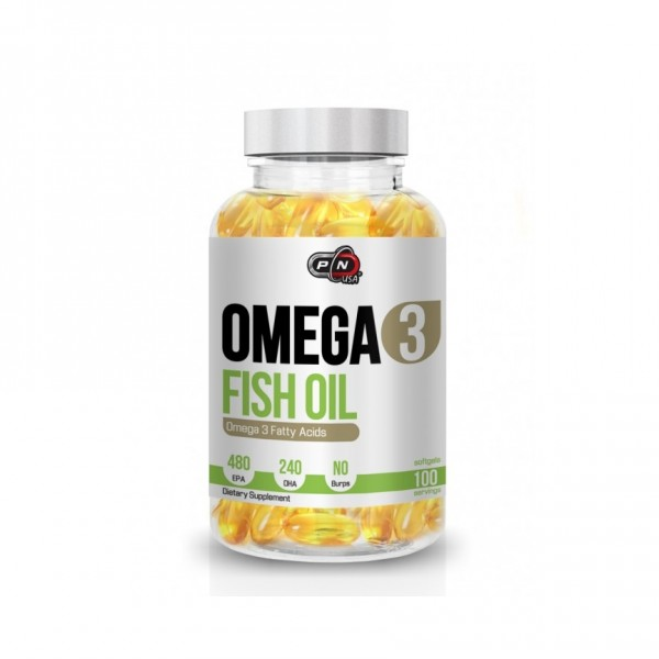 PURE NUTRITION OMEGA 3 FISH OIL 100 драж.