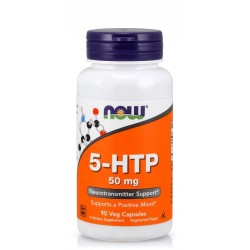 NOW FOODS 5-HTP 50 мг. 90 капс.