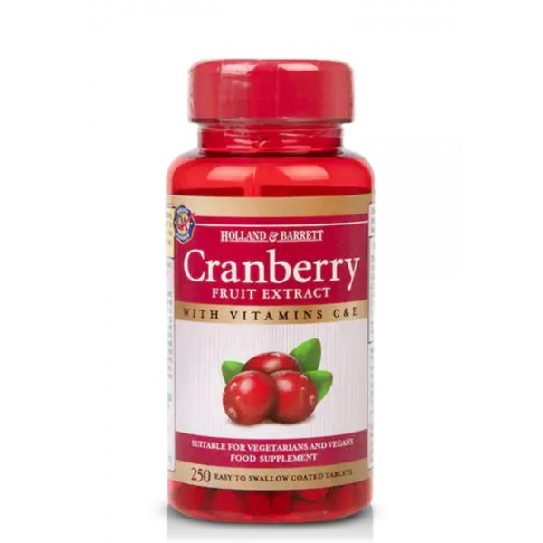 HOLLAND & BARRETT CRANBERRY FRUIT EXTRACT 250 табл.
