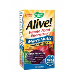 ALIVE MEN'S MULTI MAX POTENCY МУЛТИВИТАМИНИ ЗА МЪЖЕ 30 табл.