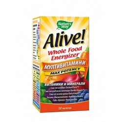 NATURE'S WAY ALIVE WHOLE FOOD ENERGIZER МУЛТИВИТАМИНИ 30 табл.