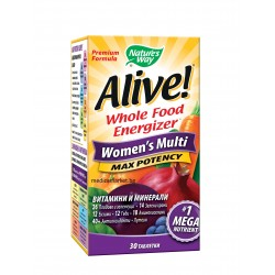 ALIVE WOMEN'S MULTI MAX POTENCY МУЛТИВИТАМИНИ ЗА ЖЕНИ 30 табл.