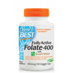 DOCTOR'S BEST FULLY ACTIVE FOLATE WITH QUATREFOLIC® 400 мкг. 90 капс.