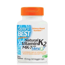 DOCTOR'S BEST NATURAL VITAMIN K2 (WITH MK-7) 45 мкг. 60 капс.