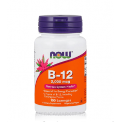 NOW FOODS VITAMIN B-12 2000 мкг. 100 драж.