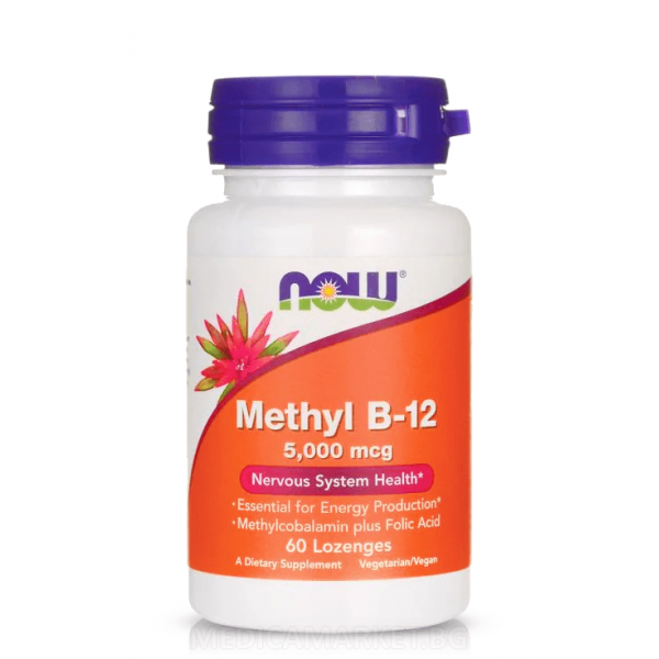 NOW FOODS METHYL B-12 5000 мкг. 60 капс.