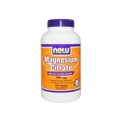 НАУ ФУДС МАГНЕЗИЕВ ЦИТРАТ / NOW FOODS MAGNESIUM CITRATE 200 мг. 100. табл.