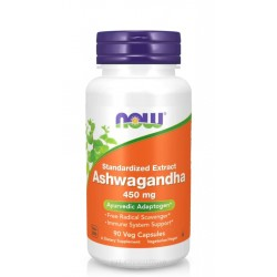 NOW FOODS ASHWAGANDHA EXTRACT 450 мг. 90 капс.