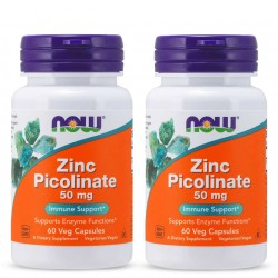 NOW FOODS ZINC PICOLINATE 50 мг. 60 капс. 2 броя